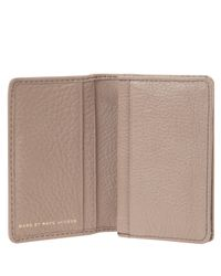 Marc By Marc Jacobs | Brown Beige Classic Q Card Holder | Lyst