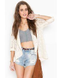 Nasty Gal | Natural Lana Lace Jacket - Cream | Lyst
