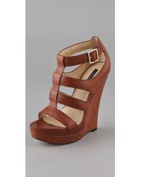 Rachel Zoe | Brown Kelsey Platform Wedge Sandals | Lyst