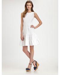 RED Valentino | White Sleeveless Cotton Dress | Lyst