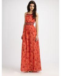 Theory - Black Flishana Printed Maxi Dress - Lyst