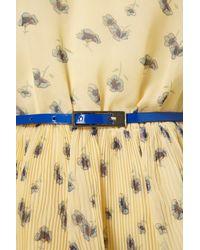 TOPSHOP - Yellow Buttercream Flower Patch Dress - Lyst