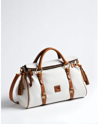 Dooney & Bourke - White Florentine Satchel - Lyst