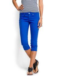 Mango | Blue Low Waist Skinny Jeans | Lyst