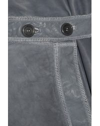 Marni | Gray Leather Skirt | Lyst