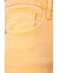 TOPSHOP - Orange High Waist Sorbet Jamie Jeans - Lyst