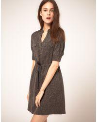 NW3 by Hobbs | Gray Nw3 Swirl Print Shirt Dress in Tencel | Lyst