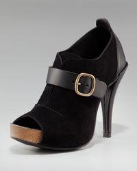 Pedro Garcia | Black Peep-toe Shoe Bootie | Lyst