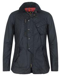 Barbour - Black Short Waxed Motorbike Jacket for Men - Lyst