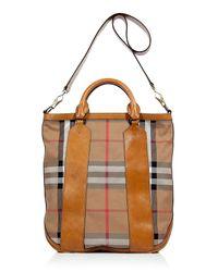 Burberry | Saddle Brown Vintage Check Bonington Tote | Lyst