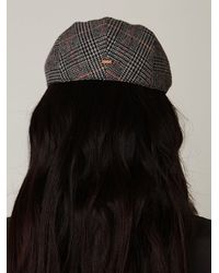 Free People | Black Pioneer Cable Driving Cap | Lyst