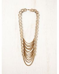 Free People - Metallic Arctic Chain Ladder Necklace - Lyst