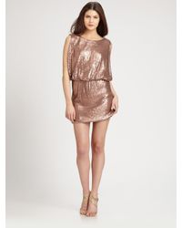 Laundry by Shelli Segal - Pink Sequined Knit Dress - Lyst