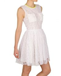 MSGM - White Lace Dress - Lyst