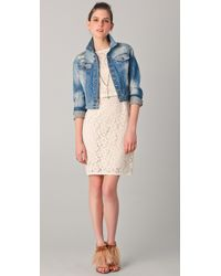 Nanette Lepore   Natural Around The World Lace Dress   Lyst