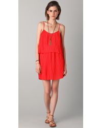 Parker - Pink Pleated Dress - Lyst