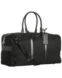 Prada | Black Nylon Large Duffle Bag for Men | Lyst