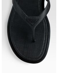 Prada | Black Thong Sandal for Men | Lyst