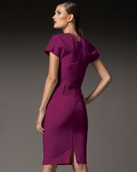 Roland Mouret - Purple Myrtha Folded Sheath Dress - Lyst