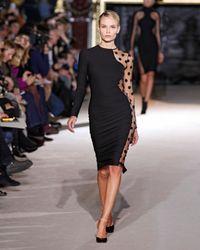 Stella McCartney | Black Polka-dot Sheer Knit Dress | Lyst