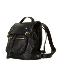 TOPSHOP | Black Buckle Backpack | Lyst