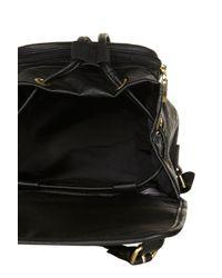 TOPSHOP | Black Buckle Backpack | Lyst