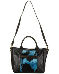 TOPSHOP | Blue Animal Print Leather Holdall | Lyst