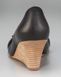 Tory Burch - Black Natalya Mid-Wedge Logo Pump - Lyst