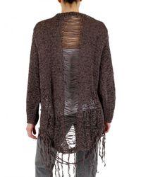 Aleksandr Manamïs - Brown Ripped Knit Sweater - Lyst