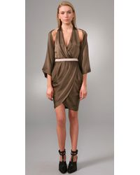 Alexander Wang | Green Cutout Dress | Lyst