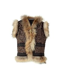 Antik Batik | Brown Black and Beige Embroidered Vest | Lyst