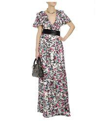 Balenciaga | Multicolor Printed Silk Twill Column Dress | Lyst