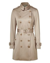 Burberry - Natural Nude Sherfield Trench Coat - Lyst