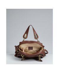 Chloé | Brown Ebony Calfskin Paraty Medium Top Handle Bag | Lyst