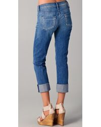 Citizens of Humanity   Blue Dani Cropped Straight Leg Jeans   Lyst