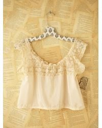 Free People - Natural Vintage Victorian Lace Top - Lyst