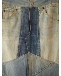 Free People | Blue Vintage Patchwork Denim Skirt | Lyst