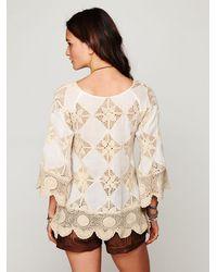 Free People | Natural Diamond Crochet Tunic Set | Lyst