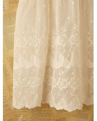 Free People - White Vintage Cotton and Linen Dress - Lyst