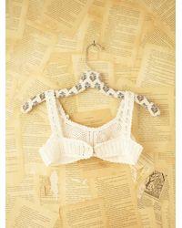 Free People - White Vintage Crochet Bralette - Lyst