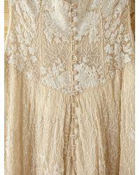 Free People - White Vintage Custom Beaded Dress - Lyst