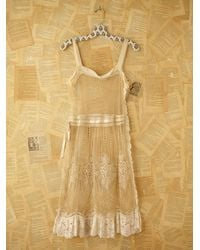 Free People - White Vintage Lace Dress - Lyst