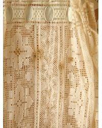 Free People - Natural Vintage Lace Tie Top - Lyst