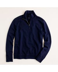 J.Crew | Blue Lightweight Vintage Fleece Half Zip Pullover for Men | Lyst
