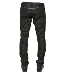 John Richmond | Black 18cm Slim Fit Coated Denim Jeans for Men | Lyst