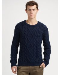 Marc By Marc Jacobs - Blue Hand-knit Pattern Wool Jumper for Men - Lyst