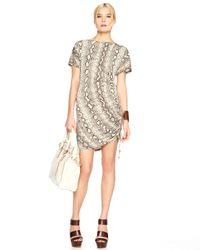 Michael Kors | Gray Snake-print Shift Dress | Lyst