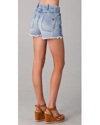 M.i.h Jeans   Blue Halsy Cutoff Shorts   Lyst