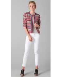 M.i.h Jeans - Multicolor Cropped Woven Cotton Jacket - Lyst
