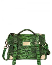 Mulberry | Green Lizard-Print Leather Shoulder Bag | Lyst